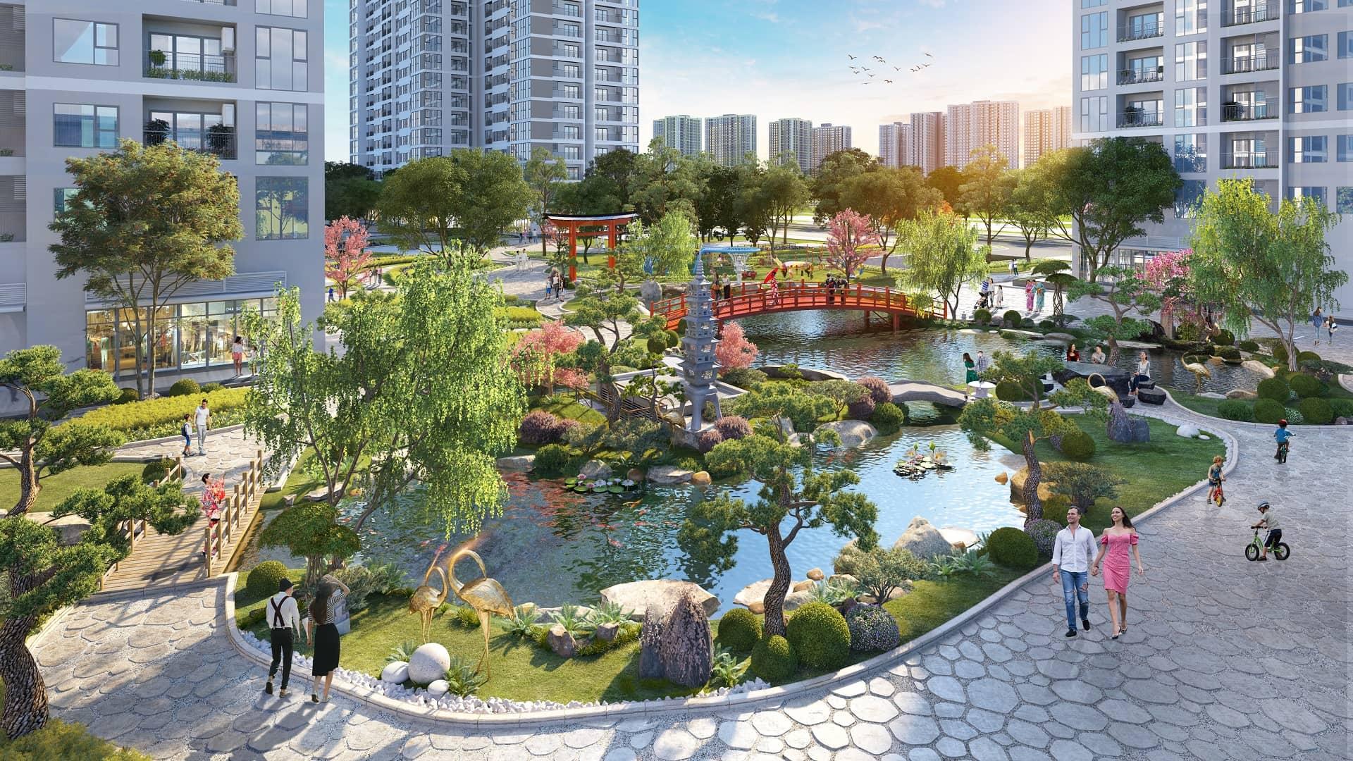 vườn nhật the zenpark vinhomes ocean park2